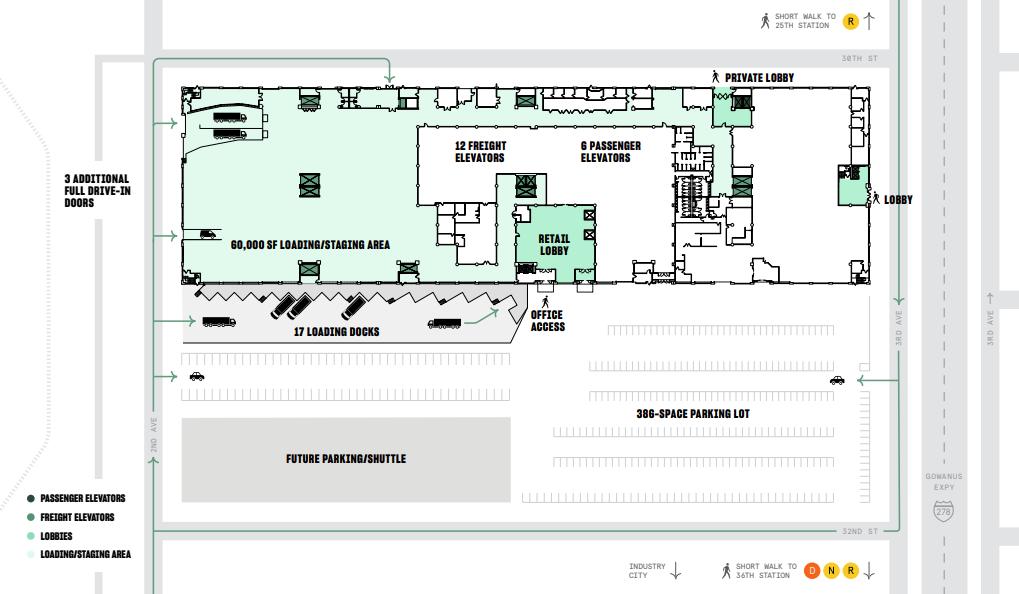 Building Access Floor Plan